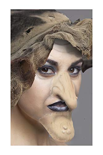 Faux Studio Flesh Witch Nose and Chin Set Latex Prosthetic Appliance.