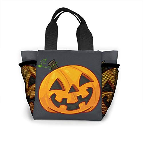 Ailigrfel Lunch Bag Tote Bag Lunch Organizer Lunch Holder Lunch Container -Pumpkin Face Halloween -