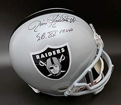 4a1a94c3946 Amazon.com  Jim Plunkett Signed Helmet - Oak F S + SB XV MVP STAT ...