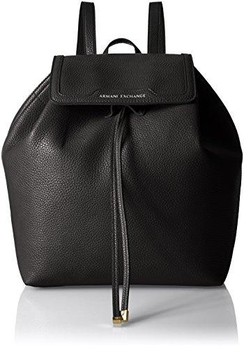A|X Armani Exchange Women's Backpack, black/camel, One - Exchange Ladies Armani