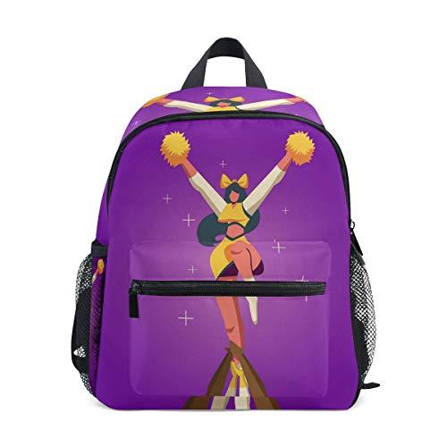 Jojogood Cheerleader Toddler Kids School Backpack Cute Durable Kindergarten Shoulder Bag ()