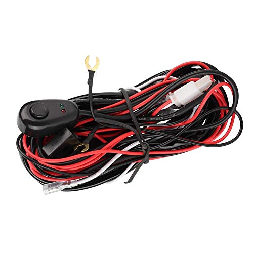 Aramox Wiring Harness,2 Meters 70W 12V Car Wiring Harness for LED Work Light Bar Control: