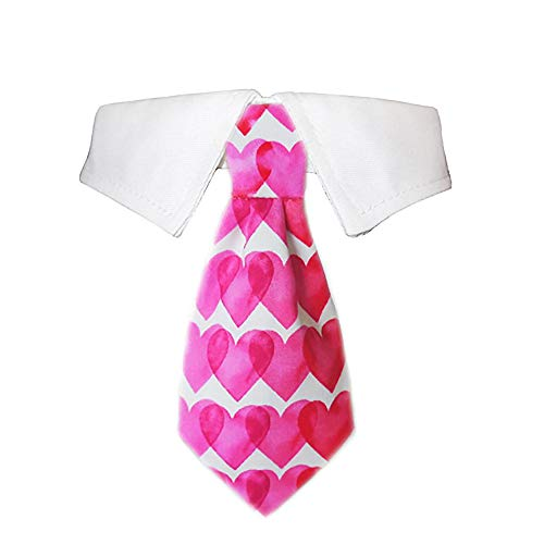 Pooch Outfitters Heart Dog Shirt Collar and Tie