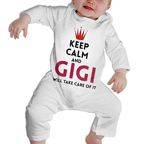 SARA NELL Baby Boys & Girls Bodysuit Keep Calm and Gigi Will Take Care of It Jumpsuit Onesies Long Sleeve]()