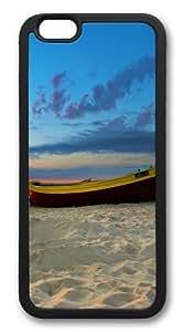 Beach boat Custom iPhone 6 Case Cover TPU Black