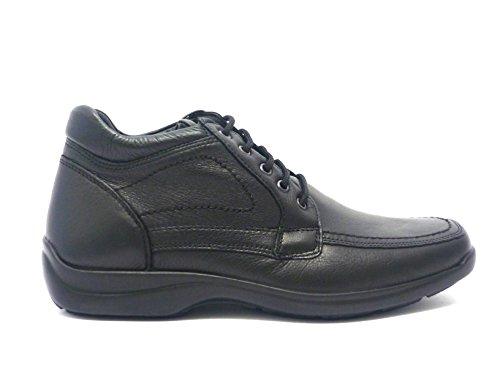 ENVAL SOFT Zapatos de Cordones de Piel Para Hombre Negro Negro 43
