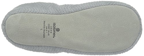 Comfort Women's and Moisture Chevron Wicking House Ballerina with Sole Fabric Grey Microterry ISOTONER for Light Slipper RdqxnCwOqB