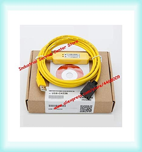 Color: Red Tool Parts Applicable PLC programming cable USB-CN226 data download programming cable CS//CJ//CQM1H series