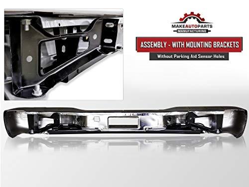 Rear Step Bumper Chrome with Brackets Light Kit Assembly Bolts Bar GM1103122 Compatible for 1999-2006 Chevy Silverado GMC Sierra 1500//99-04 Silverado GMC Sierra 2500