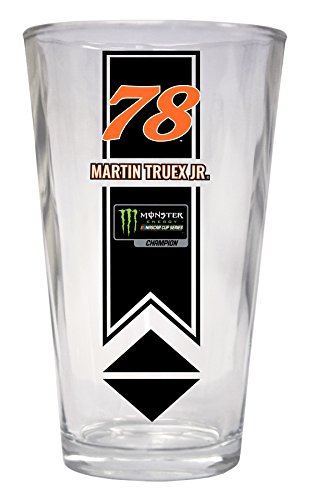 Martin Truex Jr. 2017 Champ 16 oz Pint Glass (Glasses Martin)