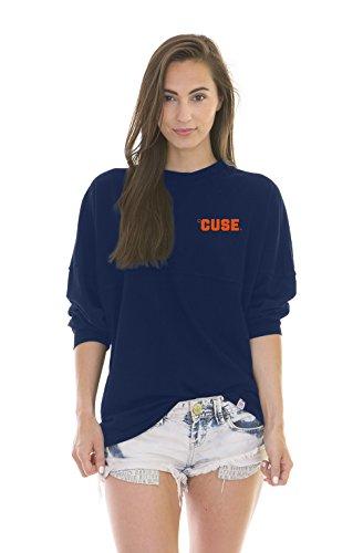 NCAA Syracuse Orange Women's Jade Long Sleeve Football Jersey, Navy, X-Small