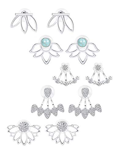 Jstyle 5 Pairs Lotus Flower...