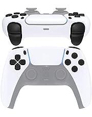 eXtremeRate Zwarte vervanging D-pad R1 L1 R2 L2 Triggers Delen Opties Gezicht Knoppen voor PlayStation voor 5 p s 5 Controller, Volledige Set Knoppen Reparatie Kits met Gereedschap voor PlayStation 5 Controller