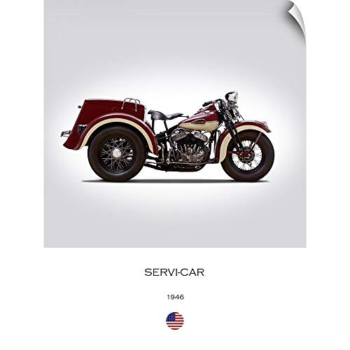 CANVAS ON DEMAND Mark Rogan Wall Peel Wall Art Print Entitled Harley Davidson Servi Car 1946 18