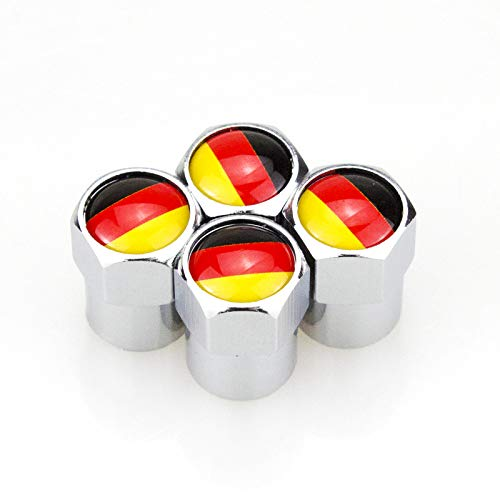 Silver Metal Automotive Wheel Valve Caps Stem Extensions Extender Car Truck Van Caravan Keenso 4 pcs Valve Cap Extension Adaptor