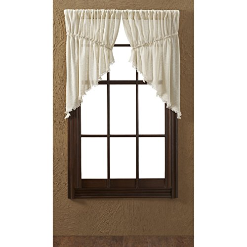 VHC Brands Coastal Farmhouse Kitchen Window Curtains -