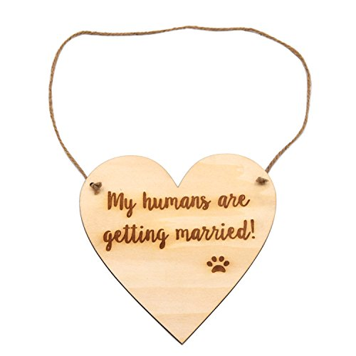 LParkin Engagement Photo Prop Dog Sign – My Humans Are Getting Married