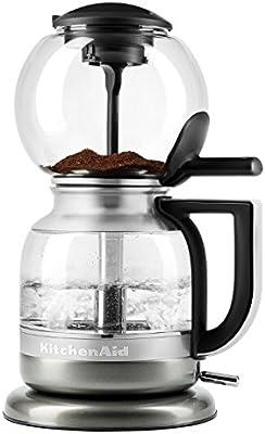 KitchenAid KCM0812OB Sifón Cafetera plata: Amazon.es: Hogar