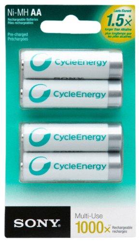 Amazon.com: Sony ciclo Energía nhaab4rn 1000 mAh baterías ...