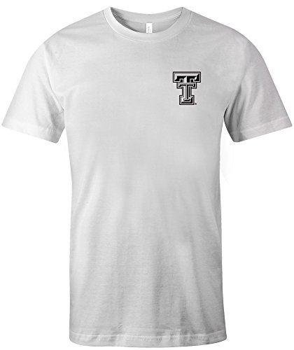 NCAA Texas Tech Red Raiders Adult US Flag State Jersey Short sleeve T-Shirt, Small,White ()