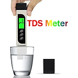 Lxuemlu TDS Meter Digital Water Tester, Professional 3-in-1 TDS, Temperature and EC Meter with Carrying Case, 0-9999ppm, Ideal Water Test Kit for Drinking Water, Aquariums and More