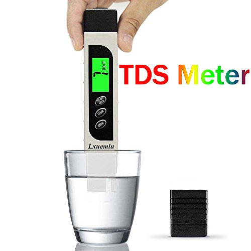 Water Quality Meter - Lxuemlu TDS Meter Digital Water Tester, Professional 3-in-1 TDS, Temperature and EC Meter with Carrying Case, 0-9999ppm, Ideal Water Test Kit for Drinking Water, Aquariums and More