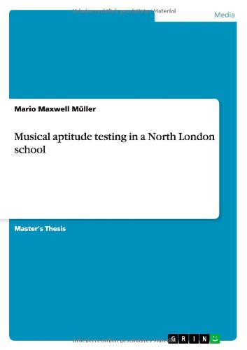 Musical aptitude testing in a North London school pdf epub