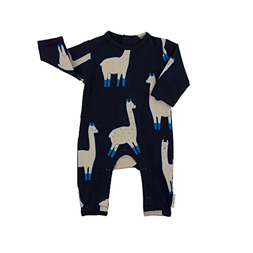 Evelin LEE Infant Baby Girl Boy Rompers Long Sleeve Grass Mud Horse Printing 2 Pcs Pajama Jumpsuit Sets