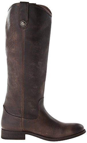 Melissa Antique De Moto Washed Femme Bottes Frye Pull up Slate Button aq1x7ad