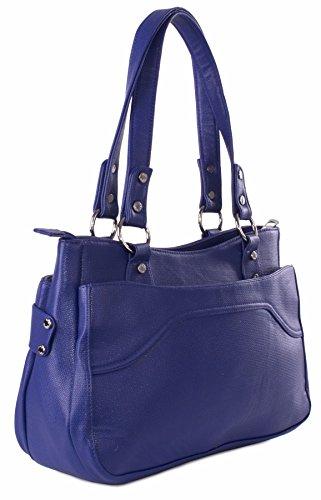 Big Handbag Shop - Bolso de asas de piel sintética para mujer Talla única marrón