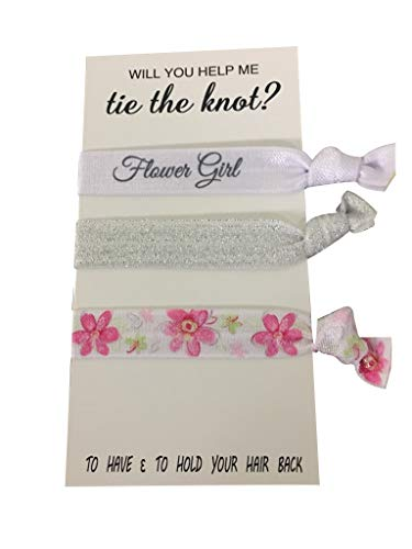 - Flower Girl Gift, Flower Girl Hair Ties, Bridesmaid Jewelry Accessory-Makes The Perfect Gift for Flower Girls