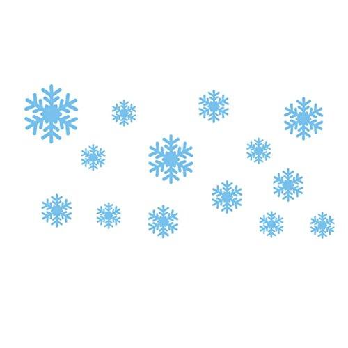 1Pcs Vinyl Removable Fashion Design Frozen Snow Flakes Art Wall Sticker - Woaills (blue) supplier