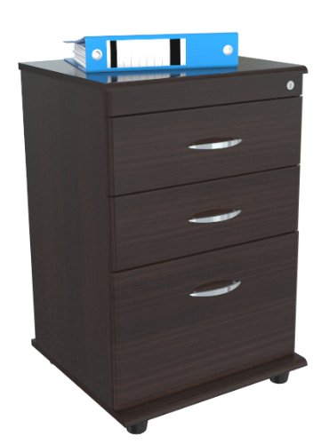 Inval America AR-3X1S Mobile File with 1 File Drawer and 2 Accessory Drawers by Inval America
