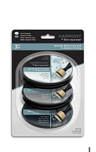 Spectrum Noir SN-IP-HWR3-CNEU Ink Pad – Harmony Water Reactive 3PC (Cool Neutrals), Cool Nuetrals by Spectrum Noir