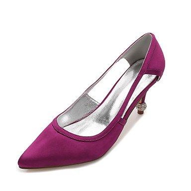 Las Mujeres'S Wedding Shoes Confort Satin Primavera Verano Boda Vestido De Noche &Amp; Rhinestone Bowknot Champán Heelivory Plana Rubí Azul US8.5 / EU39 / UK6.5 / CN40