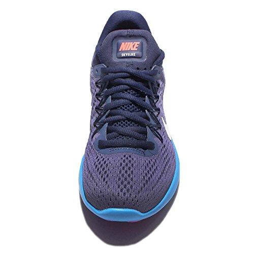 Nike Kvinna Lunar Skyelux Löparskor Mörklila Damm / Vit / Blå Lojal