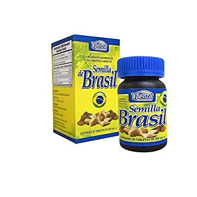 Semilla de Brasil 30 Day Supplement Brazil Seed Nut (Charcoal mask Gift Included)
