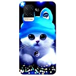 Unaxo Cute Cat,Kitty Design Printed Back Cover for Oppo A54 / CPH2239,Back Case for Oppo A54 / CPH2239