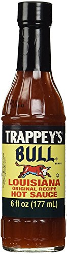 Trappey's Bull Brand Louisiana Hot Sauce, 6 Ounce (Pack of 4)