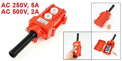 XJS 2Pcs Rainproof Hoist Pendant Control Station Pushbutton Switch COB-61