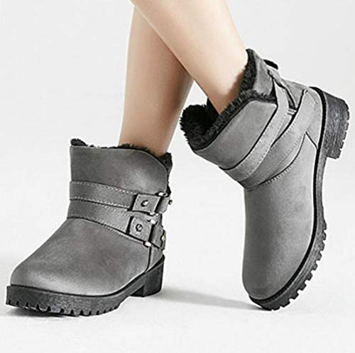 Women's Snow Boots Shiney Warm Grey Winter Shoes Autumn Martin Cotton New rdIOwxI