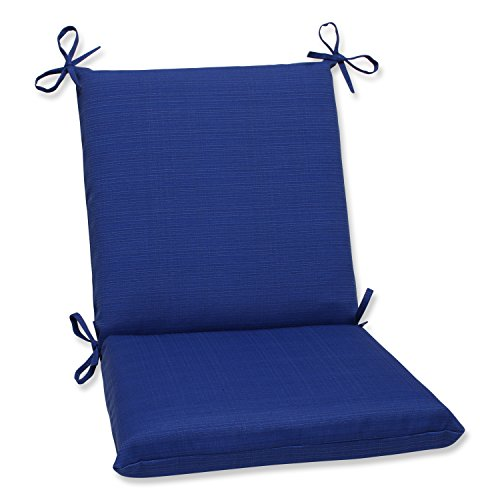 Pillow Perfect Indoor/Outdoor Fresco Squared Chair Cushion, Navy