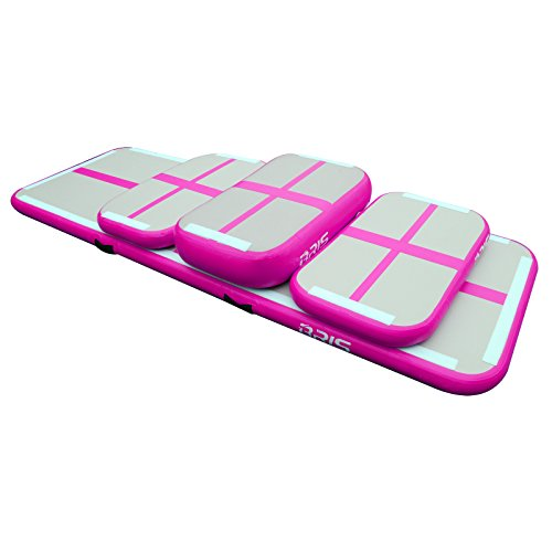 Air Track Training Set Air Tumbling Track Home Edition Inflatable Mat for GYM (Pink)