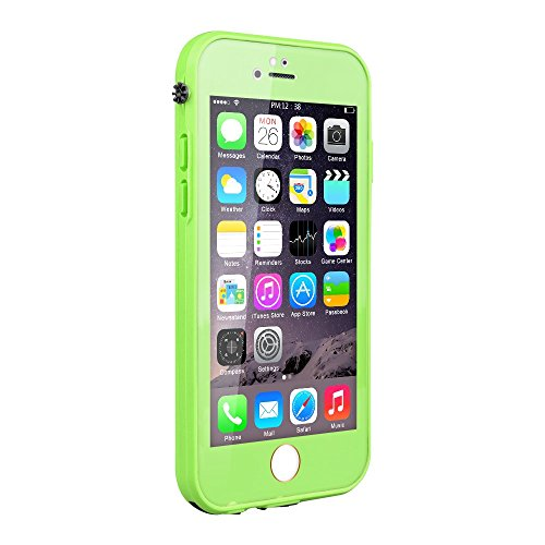 iPhone 6S Waterproof Case, Pandawell Slim Thin Light Dust Proof Snowproof Shockproof Case Full Body Protective Cover for Apple iPhone 6 / iPhone 6S 4.7 inch - Green