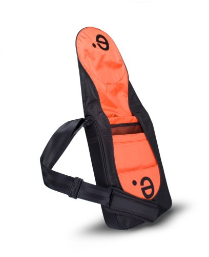 Be.ez LeVertigo Messenger Bag 15-Inches (Black/Pumpkin)