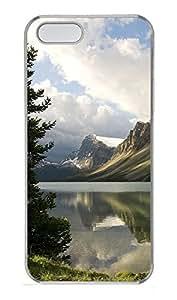 iPhone 5 5S Case Nature calm lake PC Custom iPhone 5 5S Case Cover Transparent