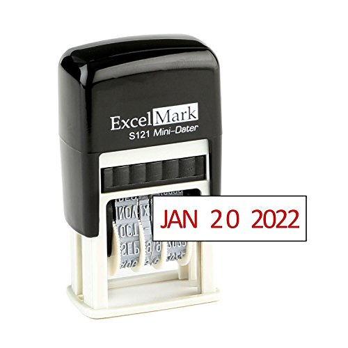 ExcelMark Self-Inking Date Stamp - S121 (Red Ink)