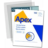 Apex Medium Laminating Pouches, Letter Size for 5 Mil Setting, 100 Pack (5242901)