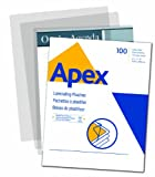 Apex Medium Laminating Pouches, Letter Size for 5
