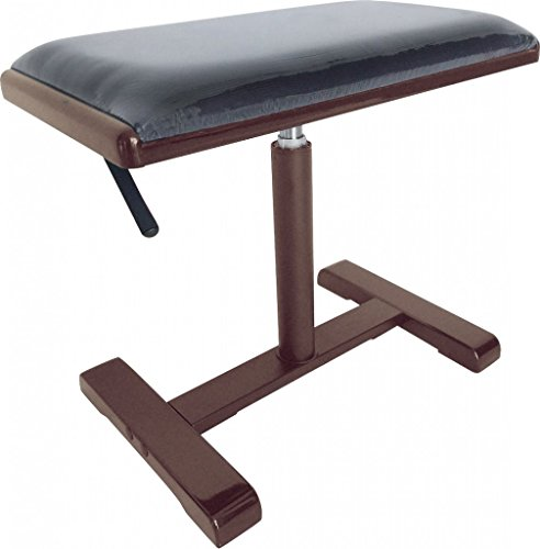 Stagg PBH 740 RWM VBK Hydraulic Piano Bench - Matte Rosewood with Velvet Black Top